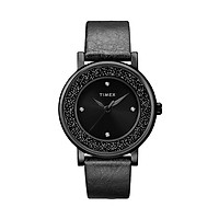 Đồng hồ Nữ Timex Crystal Opulence With Swarovski Crystals  Leather Strap Watch - TW2R93000 (38mm)