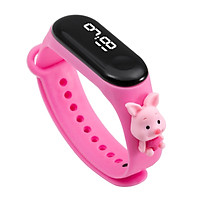 Đồng hồ trẻ em Silicon nhiều màu, đồng hồ điện tử thông minh cho bé E132 - MÀU HỒNG ĐẬM