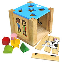 Hộp Xếp Hình Thả Khối  - Đồ chơi gỗ