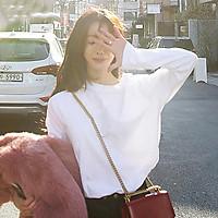 Áo thun tay dài màu trơn đơn giản phong cách Hàn Quốc cho nữ