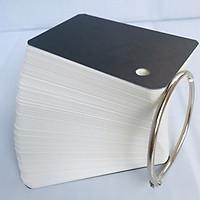 100 Thẻ Flashcard Trắng 4.5 x 8 x 3.7cm Học Tiếng Anh Kèm Khoen Bìa