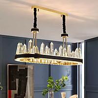 Đèn chùm pha lê cao cấp thiết kế sang trọng trang trí phòng khách, bàn ăn, nhà hàng, khách sạn TH-8134