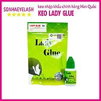 Keo lady glue, keo lady xanh, dòng keo khô nhanh dành cho thợ nối mi chuyên nghiệp