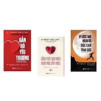 combo 3 cuốn sách chinh phục mục tiêu , tình yêu và gia đình ( gắn bó yêu thương + vì ước mơ ngại gì dốc cạn tâm sức + sống thật bao nhiêu hạnh phúc bấy nhiêu ) DL