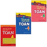 Sách: Combo 3 Cuốn Rèn Kĩ Năng Học Tốt Toán 4 + Vở Bài Tập Thực Hành Toán Lớp 4