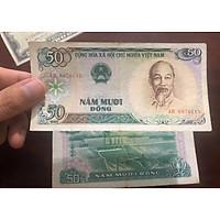 Tờ 50 đồng Việt Nam 1985 đợt 1, tiền cổ bao cấp sưu tầm