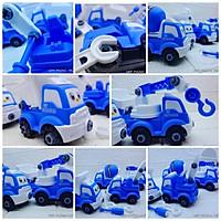 Bộ đồ chơi ô tô mô hình xe công trình cho trẻ em, đồ chơi cho bé thoả sức sáng tạo lắp ráp sửa chữa