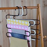 Móc treo quần áo kim loại 5 tầng bền đẹp tiện dụng