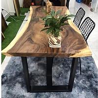 Bàn gỗ me tây dày 5cm: 1.4mx0.6m
