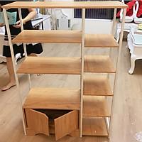 Kệ nhà bếp đa năng 5 tầng - Kệ lò vi sóng khung sắt kích thước 122x80x30cm - Giao màu ngẫu nhiên