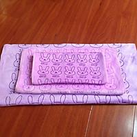Set khăn hình thú cho bé và gia đình 3 món khăn tắm, khăn lau, khăn mặt KB1911