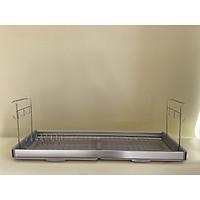 Kệ chén,kệ treo tủ bếp, kệ chén treo 1 tầng, bát Inox 304 - Light 800/900+ ống đũa nhựa