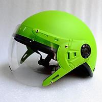 Mũ Bảo Hiểm có kính 1/2 đầu xanh lá nhám