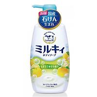 Sữa tắm hương cam chanh milk body soap cow 550ml - 4901525006330