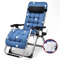 Ghế xếp ghế ngồi thư giãn gấp gọn đi kèm nệm khung hợp kim chịu lực siêu bền chốt khóa kim loại trọng tải 250kg