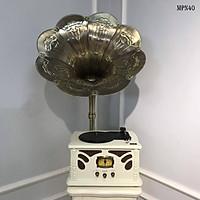 Máy PHÁT NHẠC TÂN CỔ ĐIỂN MPN40  chức năng nghe nhạc đĩa than, USB, Bluetooth, đài FM