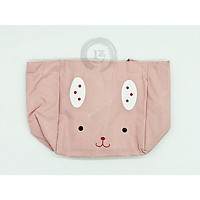 Túi giữ nhiệt đựng cơm màu hồng thỏ dây rút loại dày tốt GD015