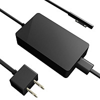 Laptop Power Adapter High Efficiency AC Adpter Replacement for Microsoft Surface Pro Power Adapter Black US Plug 65W