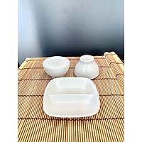 Bộ 3 món đựng gia vị muối, tiêu và nước chấm thương hiệu Royal Porcelain - Hàng nhập khẩu Thái Lan