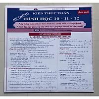 Hệ Thống Kiến Thức Hình Học 10-11-12 (bản mới - cỡ lớn)