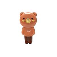 Vỉ Bút Xóa Kéo Bear - Morning Glory 80021 - Màu Nâu