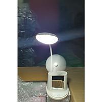 Đèn bàn - đèn học - đèn đọc sách - đèn để bàn có kèm giá đỡ điện thoại, có gương soi và quạt USB, được chọn màu
