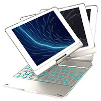 Bàn phím cho ipad Air 1/ Ipad Air 2/ Ipad Pro 9.7/ Ipad 2017/ Ipad 2018 màn hình 9.7 inch - Xoay 360 độ, 7 màu đèn cho bàn phím, bàn phím nhạy - Hàng nhập khẩu Hàng nhập khẩu PKCB