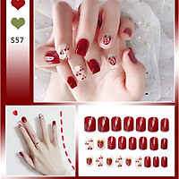 Bộ 24 móng tay giả nail thời trang như hình (S-57)