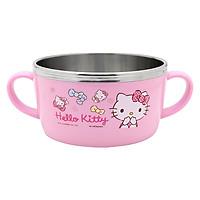 Bát Đựng Soup Cho Bé Bằng Thép Không Gỉ Hello Kitty LKT425 (13.5 x 9.5 x 5 cm) - Hồng