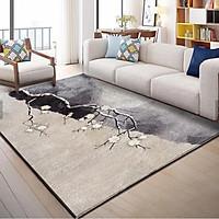 Thảm trải sàn,thảm lỳ Bali HOA VĂN Trang Trí Cao Cấp 1m2 x 1m6 - Thảm Lì Bali Hàng Đẹp ( Mặt Sau Chống Trơn Trượt)