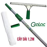 Bộ Dụng Cụ Lau Kính Cán Dài 1,2m Galac-01 Dùng Làm Sạch Cửa Kính Cao Dưới 3 Mét - Hàng Cao Cấp, Chính Hãng - Tặng Đồ Sơ Cua Thay Thế
