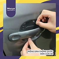 Bộ 4 miếng dán chống xước hõm cửa xe ô tô