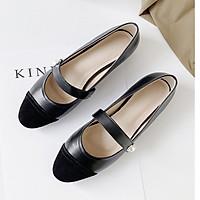 Giày bệt búp bê nữ phối màu đính ngọc siêu xinh-B3