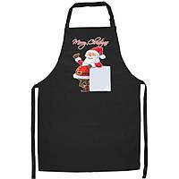 Tạp Dề Làm Bếp In Hình Ông Già Noel đón chào Giáng Sinh- Hàng Cao Cấp Chính Hãng