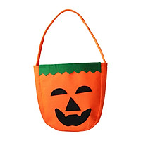 Halloween Tote Bags With handle Reusable Halloween Candy Bags Smile Pumpkins Pattern Gift Bags for Children Halloween