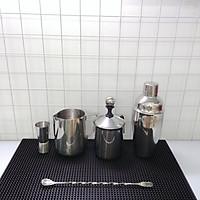 Combo 6 dụng cụ pha chế Inox quầy cà phê, barista (Shaker inox 500ml)