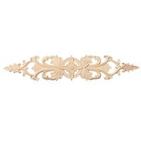 Wood Carved Applique Frame Flower Onlay Furniture Vintage Decor Unpainted