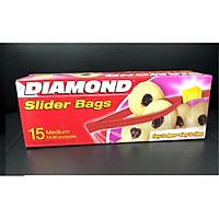 Túi đựng phẩm Diamond có khóa kéo  PE- Medium