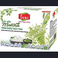 Yoki Trà sữa Matcha trân châu thủy tinh 400g (08 gói trà sữa Matcha 20g+ 08 gói trân châu thủy tinh 30g)