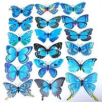 Set 24 cánh bướm dán tường 3D trang trí tường độc đáo (tặng 02 móc dán tường 3D)