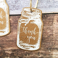 Pack of 50pcs Kraft  Bottle Thank You Gift Tag Labels Christmas Favor