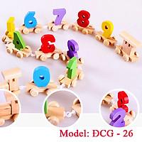 Bộ đồ chơi tàu thả hình khối cơ bản bằng gỗ