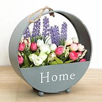 Giỏ hoa Treo tường chữ Home độc đáo