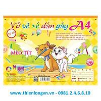 Vở vẽ ghim xé dán gáy A4 - 20 tờ; Klong 709 bìa vàng