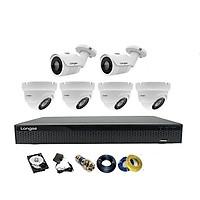 Camera Longse TVI 2.0MP 1080p bộ 6 mắt (Kim loại)