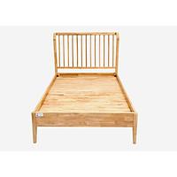 Giường đơn gỗ cao su Nội Thất Nhà Bên NAN 33 (Nâu nhạt)