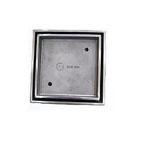 Phễu thoát sàn đặt gạch đúc GL SUS304 120x120mm Ø60-90, chống hôi, đúc nguyên khối