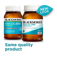 Dầu Cá Blackmores Oudourless Fish Oil 1000 Mg Hộp 400 Viên không tanh chính hãng Úc mẫu mới 2020