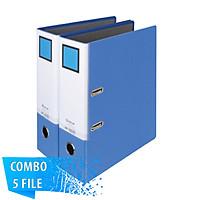 Combo 5 File đựng tài liệu A4-S 9cm - KING JIM 2697GSV còng bật cao cấp