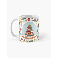 Cốc sứ uống trà cà phê in hình cây thông Noel - cốc  quà tặng giáng sinh